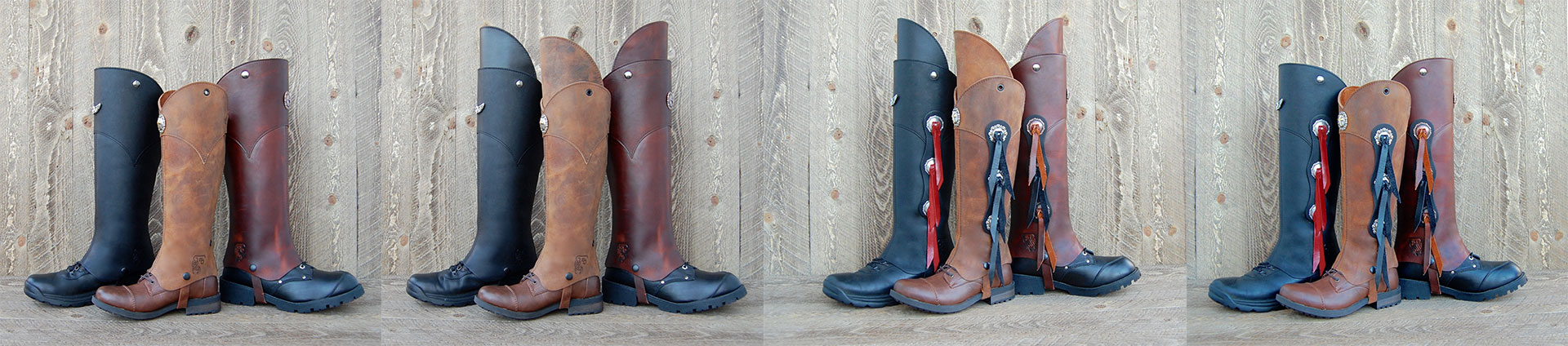 same half chaps with different accessories